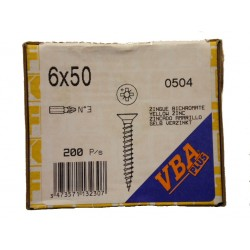 Vis 6 x 50 Zingue Jaune Bichromate VBA PLUS