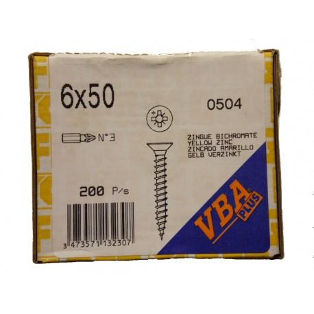 6 x 50 Zingue Jaune Bichromate VBA PLUS