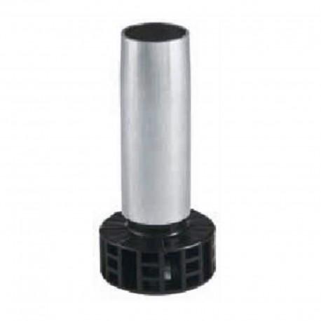 Pied de meuble acier sans embase H 150 mm (lot de 4)
