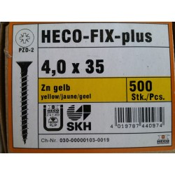 Vis 4 x 35 Zingue Jaune HECO-FIX-plus