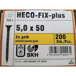 Vis 5 x 50 Zingue Jaune HECO-FIX-plus