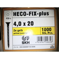 Vis 4 x 20 Zingue Jaune HECO-FIX-plus