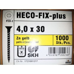 Vis 4 x 30 Zingue Jaune HECO-FIX-plus