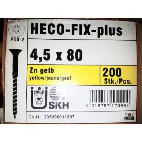 4.5 x 80 Zingue Jaune HECO-FIX-plus