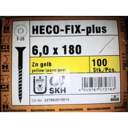 Vis 6 x 180 Zingue Jaune HECO-FIX-plus