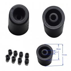 Pied caoutchouc idéal matériel hifi évite les vibrations (lot de 8)
