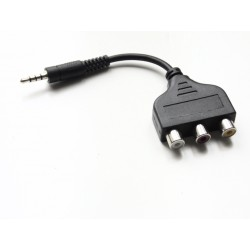Adaptateur Jack 3.5 vers RCA audio / video