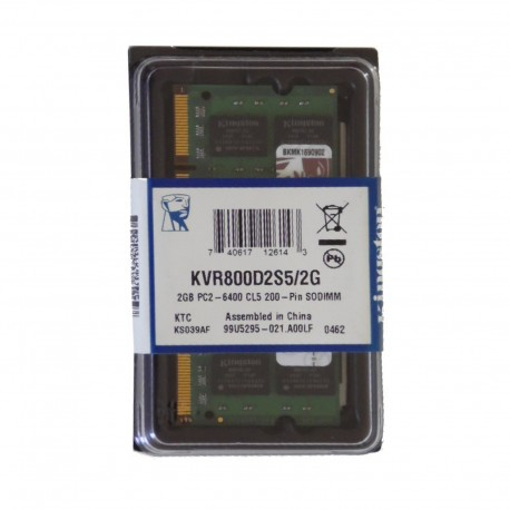 SODIMM 2GB PC2 - 6400 CL5 200 Kingston KVR800D2S5/2G