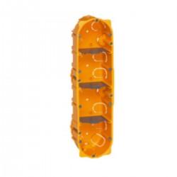LEGRAND 80044 BOITE CLOISON SECHE BATIBOX 4 POSTES LOT DE 5