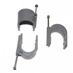 Attaches Pontets Pour Tube IRL ou Cable electrique Ø 28 mm Lot de 25