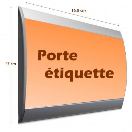 Plaque de porte modèle galbée