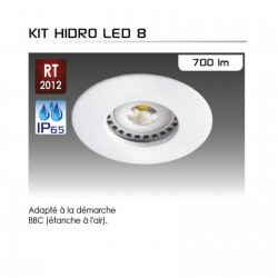 Spot encastrable étanche IP 65 classe 3 pour lampe LED GU5.3