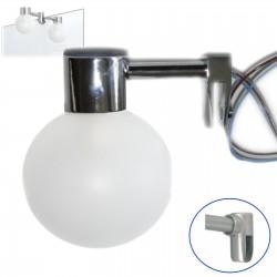 Applique pour miroir en métal chromé et polymère rond (la paire)