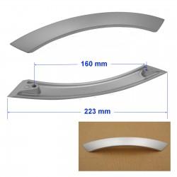 Poignée Alu arrondie entraxe 160 mm PALUTRAP160