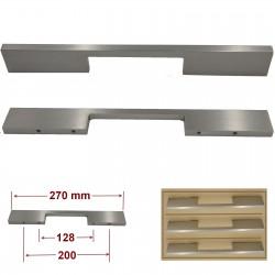 Poignée Alu plate entraxe 200 mm PPALU200128