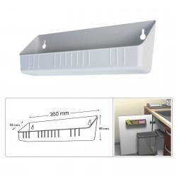 Bac plastique blanc sans séparateur 360 mm MSA C5400