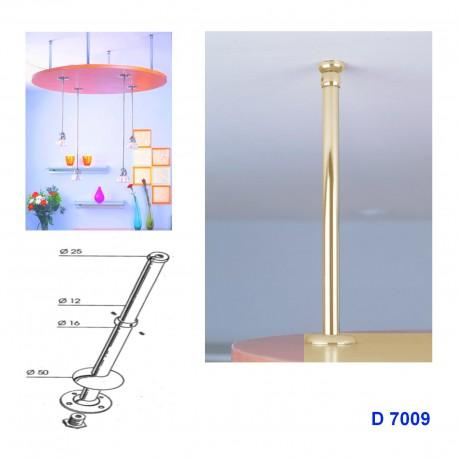 Support telescopique rond se fixant au plafond couleur Or MSA D7009