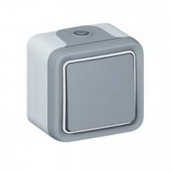 Interrupteur ou va-et-vient Plexo complet IP55 saillie 10AX 250V - gris