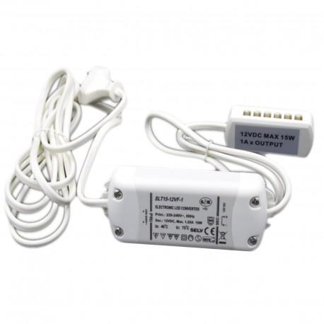 Transformateur Led 12V 15w SLT15-12VF-1