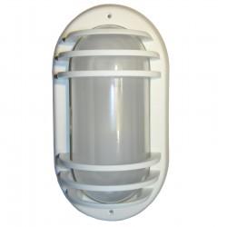 APPLIQUE EXTERIEUR ETANCHE BLANC IP44 220 Volts fluocompact