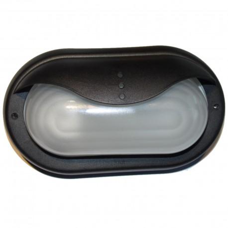 APPLIQUE EXTERIEURE ETANCHE NOIRE IP44 220 Volts fluocompact